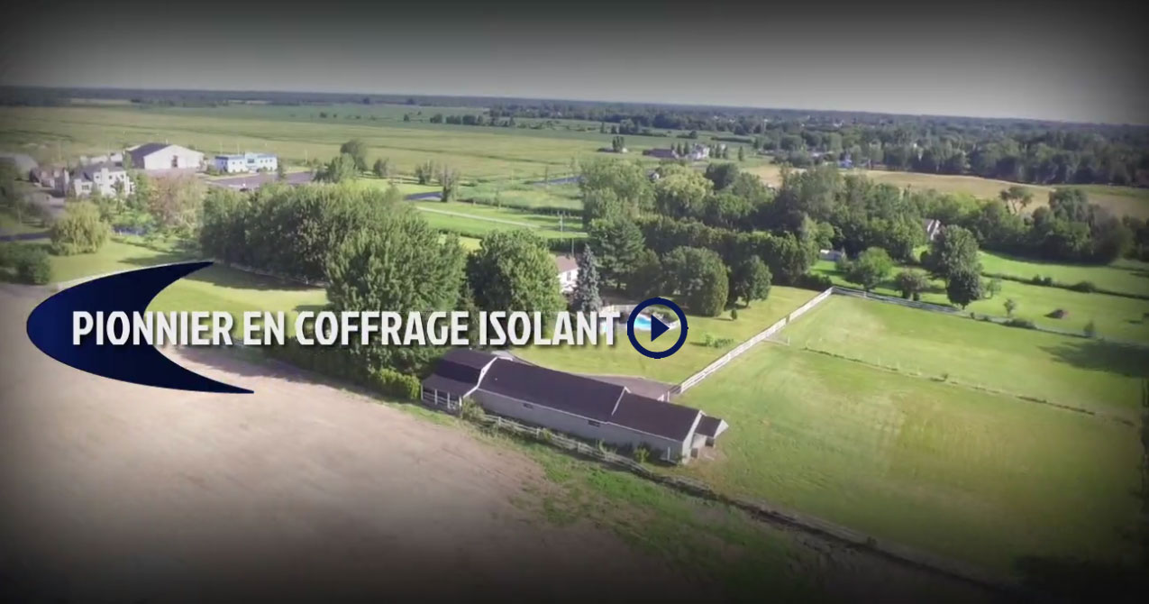 Pionner en coffrage isolant